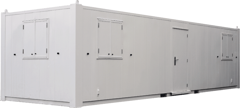 Security Door and Shutters on a modular building